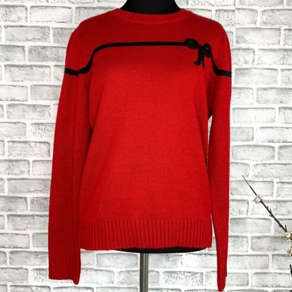 Vintage Russ Bow Crew Neck Pullover Sweater Small